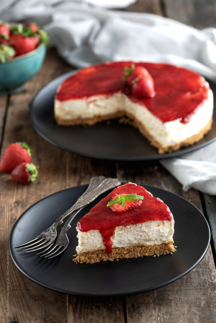 Cheesecake with Chios products