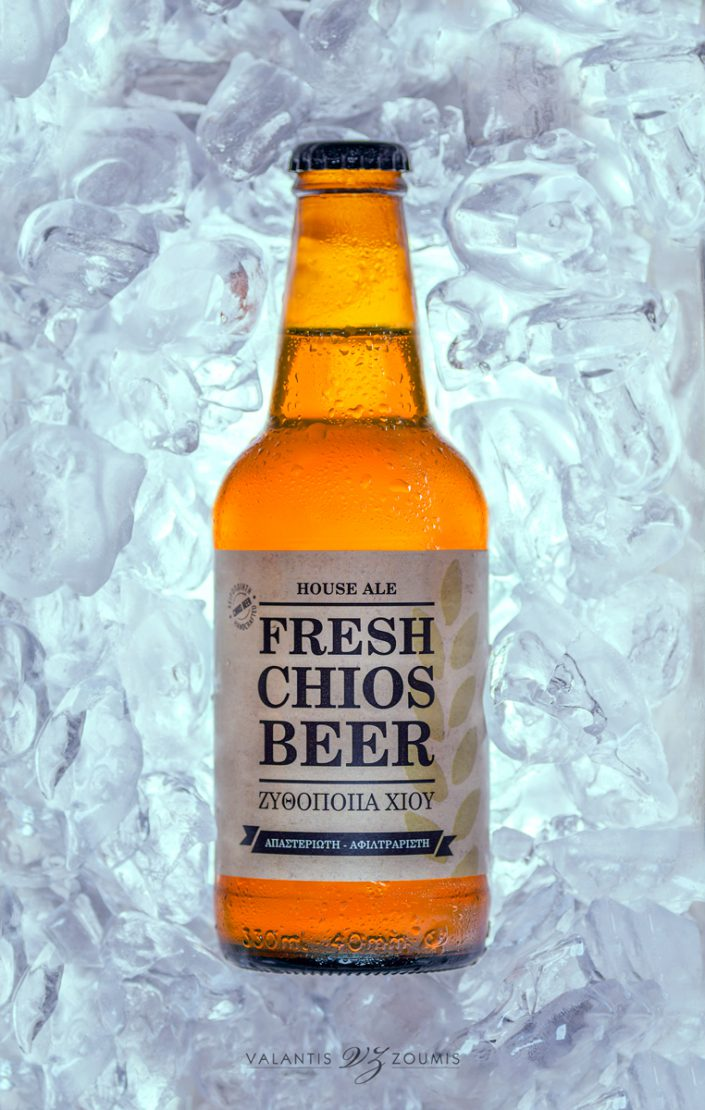 Chios beer on ice
