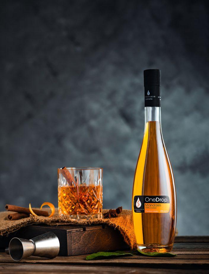 greek liquer mandarin flavour