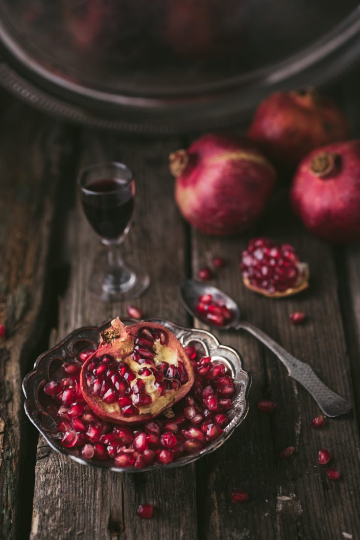pomegranate with liquer