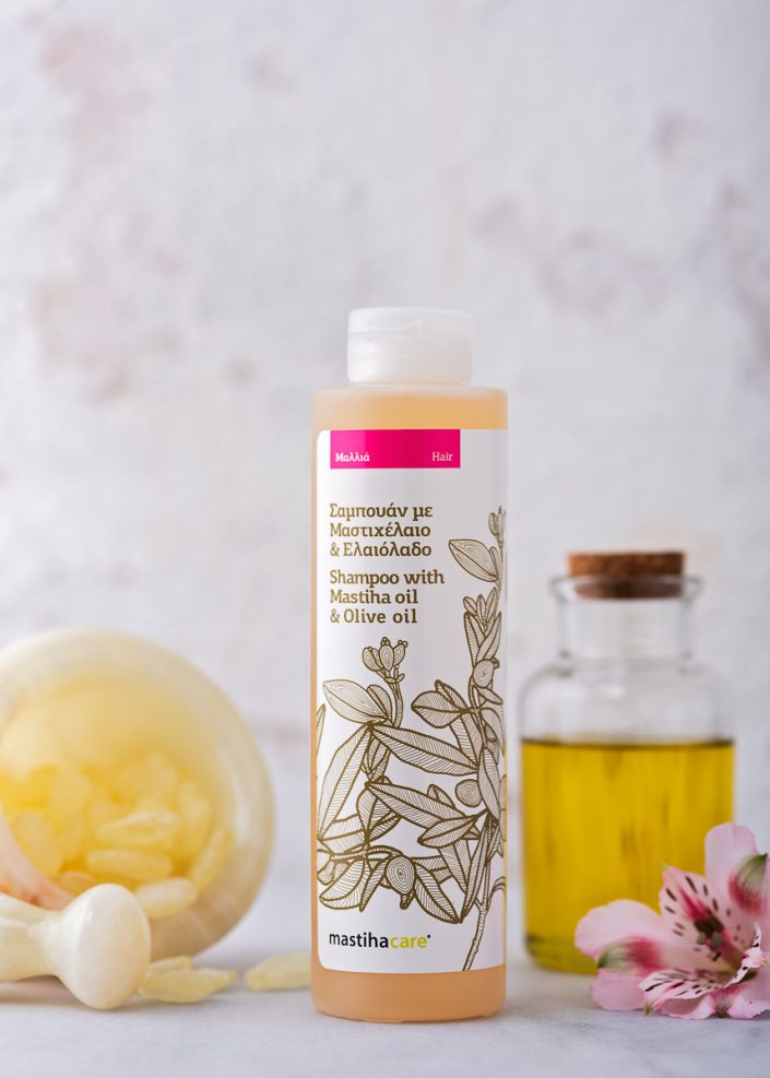 shampoo with olive oil and mastiha